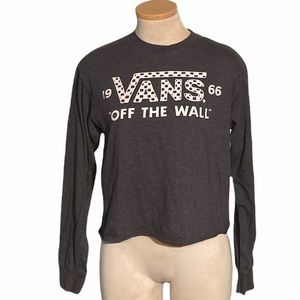Vans Off The Wall Long Sleeve Crop Top Size S